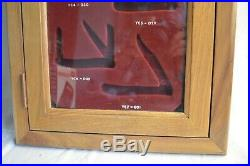 Vintage Case XX Store Knife Counter Top Oak Wood Display Key Single Tray Cabinet