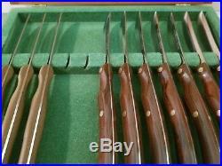 Vintage Cutco #59 Steak Knife Set 10 Pieces in Wood Storage Case