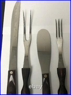 Vintage Cutco Knife & Utensil Set Carving Set With Wall Mount Storage Case