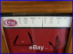 Vintage Dealers CASE XX Stag Pocket Knife Store COUNTER TOP DISPLAY Red Insert