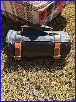 Vintage Hickory Hill Knife Roll Carrying Storage Case Pack Holds 116.34 long