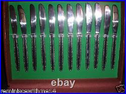 Vintage Lifetime Cutlery Stainless Service For 12 -72 Pieces In Storage Case