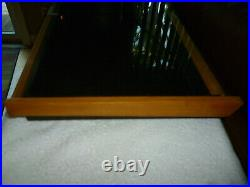 Vintage Old Glass Top Showcase Store Display Case Jewelry Brothers Knives Knife