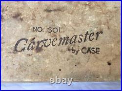 Vintage/Pre-OwnedCase Carvemaster Knife Carving Set in Wood Storage BoxBlack