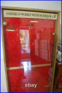 Vintage Schrade Old timer Uncle Henry 40 Knife Stand Up Store Display Case