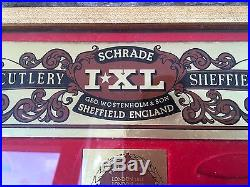 Vintage Schrade Sheffield England Pocket Knife Store Display Case With Storage