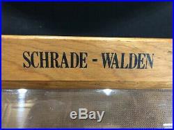 Vintage Schrade Walden Old Timer Knife Display Store Case