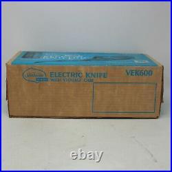 Vintage Sunbeam Vista Electric Knife With Storage Case Model VEK600 SEALED BOX