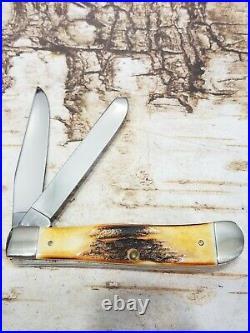 Vintage USA Case XX 1988 Stag Brendles Knife Store 5254 Trapper Pocket Knife