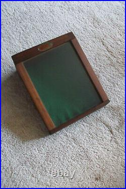 Vintage Wood and Acrylic Counter Display Case Knives General Store Advertising
