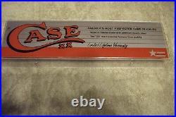 Vintage case knife sign store display