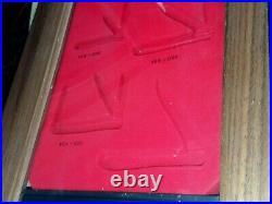 Vtg Case XX Pocket Knife Walnut Showcase Yellow Handle Store Display No Key