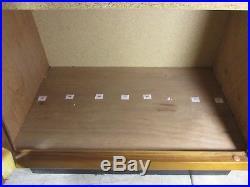 Vtg Original CASE Pocket Knife Display Case Cabinet/Storage with Key 1940/50's