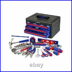 WORKPRO 125-Piece Home Repair Tool Set with 3-Drawer Storage Case, W009022A
