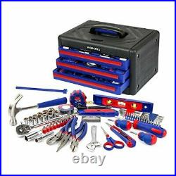 WORKPRO 125-Piece Home Repair Tool Set with 3-Drawer Storage Case W009022A