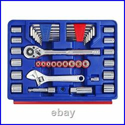 WORKPRO W009022A 125-Piece Home Repair Tool Set with 3-Drawer Storage Case