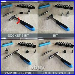 WZG Werkzeug 60 Piece Household Tool Set Kit with Plastic Storage Case