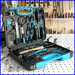WZG Werkzeug 60PCS Household Tool Set with Plastic Storage Case (Blue)