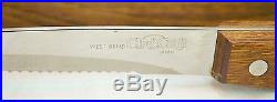 West Bend Chef Craft Knife 6 Piece Set In Plastic Storage Case Made In Japan