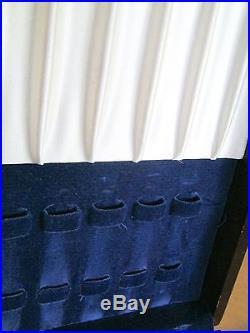Wood Silverware Flatware Cutlery Storage Chest Box Case 12 Knife Slots in Lid