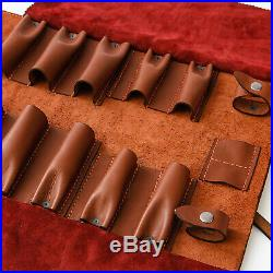 Woodcarving tool storage leather case of tools from Adolf Yurev