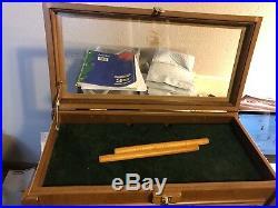 Wooden Gun Knife Display Case Collector Glass Storage Lock Lid Thomas NAHC
