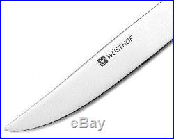 Wusthof 8pc Stainless Steel Steak Knife Set with Black Wooden Storage Case