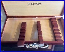 Wüsthof Stainless 10-Piece Presentation Steak Knife & Carving Set withStorage Case