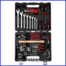 ZEBRA WURTH 56 Piece Household Hand Tool Set Kit Box Hard Storage Case