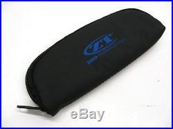 ZERO TOLERANCE Black Leatherette ZIPPER Storage Protective Knife Case Pouch