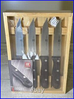 ZWILLING 4-pc Steakhouse Steak Knife Set with Storage Case 39134-000 New